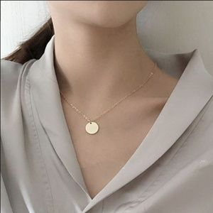 Minimalist Coin Circle Necklaces